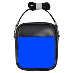 Plain Blue Girls Sling Bags