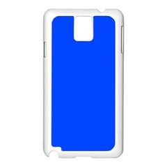 Plain Blue Samsung Galaxy Note 3 N9005 Case (White)