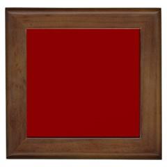 Plain Blue Red Framed Tiles