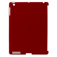 Plain Blue Red Apple iPad 3/4 Hardshell Case (Compatible with Smart Cover)