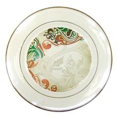 Flower Floral Tree Leaf Porcelain Plates