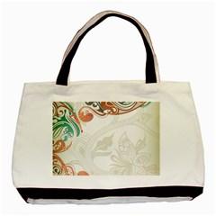 Flower Floral Tree Leaf Basic Tote Bag