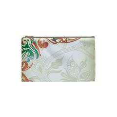 Flower Floral Tree Leaf Cosmetic Bag (Small)