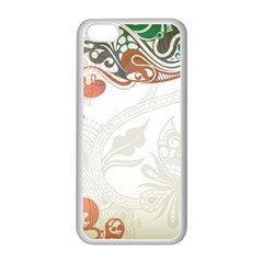 Flower Floral Tree Leaf Apple iPhone 5C Seamless Case (White)
