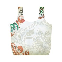 Flower Floral Tree Leaf Full Print Recycle Bags (M)