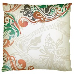 Flower Floral Tree Leaf Standard Flano Cushion Case (Two Sides)