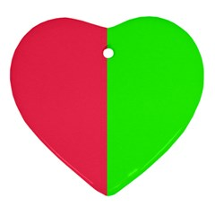 Neon Red Green Ornament (Heart)