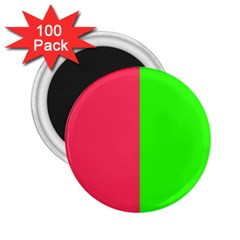 Neon Red Green 2.25  Magnets (100 pack)