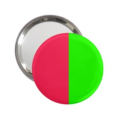Neon Red Green 2.25  Handbag Mirrors