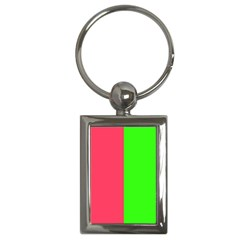 Neon Red Green Key Chains (Rectangle)