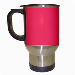 Neon Red Green Travel Mugs (White)
