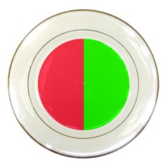 Neon Red Green Porcelain Plates