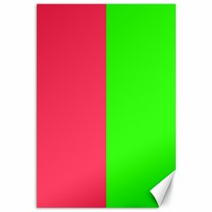 Neon Red Green Canvas 12  x 18