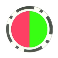 Neon Red Green Poker Chip Card Guard