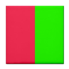 Neon Red Green Face Towel