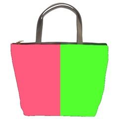 Neon Red Green Bucket Bags