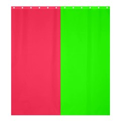 Neon Red Green Shower Curtain 66  x 72  (Large)