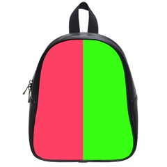 Neon Red Green School Bags (Small)