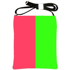 Neon Red Green Shoulder Sling Bags