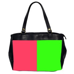 Neon Red Green Office Handbags (2 Sides)