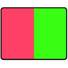 Neon Red Green Fleece Blanket (Medium)
