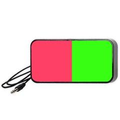 Neon Red Green Portable Speaker (Black)
