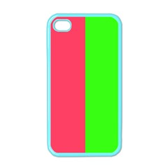 Neon Red Green Apple iPhone 4 Case (Color)