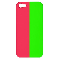 Neon Red Green Apple iPhone 5 Hardshell Case