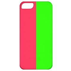 Neon Red Green Apple iPhone 5 Classic Hardshell Case