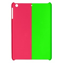 Neon Red Green Apple iPad Mini Hardshell Case