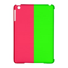 Neon Red Green Apple iPad Mini Hardshell Case (Compatible with Smart Cover)