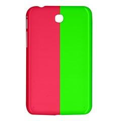 Neon Red Green Samsung Galaxy Tab 3 (7 ) P3200 Hardshell Case
