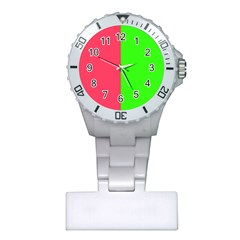 Neon Red Green Plastic Nurses Watch