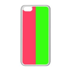 Neon Red Green Apple iPhone 5C Seamless Case (White)