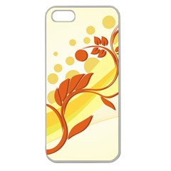 Floral Flower Gold Leaf Orange Circle Apple Seamless iPhone 5 Case (Clear)