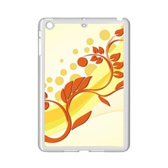 Floral Flower Gold Leaf Orange Circle iPad Mini 2 Enamel Coated Cases