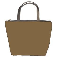 Plain Brown Bucket Bags