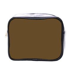 Plain Brown Mini Toiletries Bags