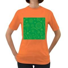 Green Floral Star Butterfly Flower Women s Dark T-Shirt