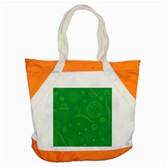 Green Floral Star Butterfly Flower Accent Tote Bag