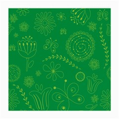 Green Floral Star Butterfly Flower Medium Glasses Cloth (2-Side)
