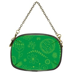 Green Floral Star Butterfly Flower Chain Purses (One Side)