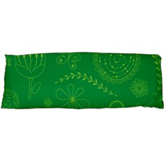 Green Floral Star Butterfly Flower Body Pillow Case (Dakimakura)