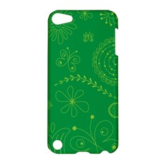 Green Floral Star Butterfly Flower Apple iPod Touch 5 Hardshell Case