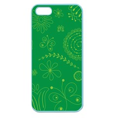 Green Floral Star Butterfly Flower Apple Seamless iPhone 5 Case (Color)