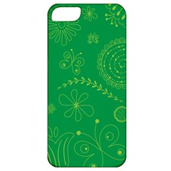 Green Floral Star Butterfly Flower Apple iPhone 5 Classic Hardshell Case