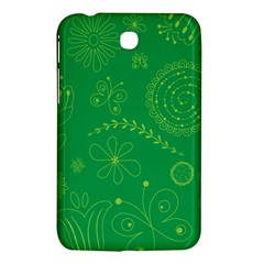 Green Floral Star Butterfly Flower Samsung Galaxy Tab 3 (7 ) P3200 Hardshell Case