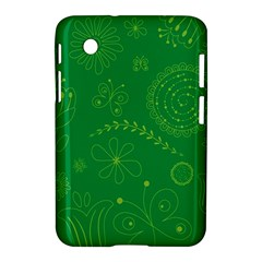 Green Floral Star Butterfly Flower Samsung Galaxy Tab 2 (7 ) P3100 Hardshell Case