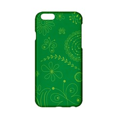 Green Floral Star Butterfly Flower Apple iPhone 6/6S Hardshell Case
