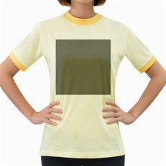 Plain Grey Women s Fitted Ringer T Shirts
